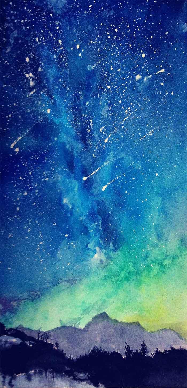 动漫手绘风唯美星空手机壁纸
