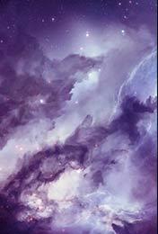 淡紫色神秘的星空