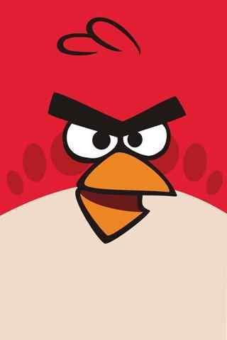 愤怒的小鸟可爱卡通手机壁纸