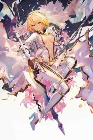 Fate/GrandOrder saber lily壁紙包(bao)