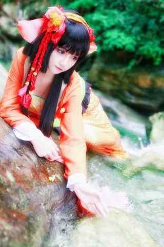 阴阳师式神cosplay之鲤鱼精手机壁纸