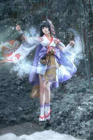 阴阳师式神cosplay之雪女手机壁纸