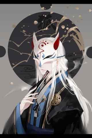 阴阳师SR式神妖狐手机壁纸