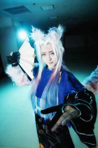 阴阳师妖狐cosplay手机壁纸