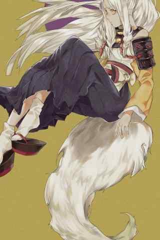唯美的阴阳师白狼手机壁纸