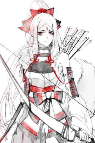阴阳师白狼美丽手绘图片