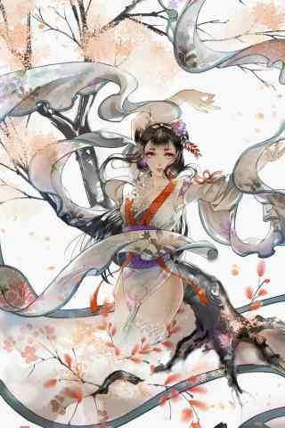 阴阳师花鸟卷手机壁纸