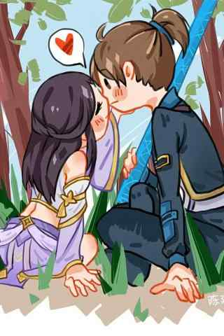 王者荣耀紫霞仙子和至尊宝亲吻手机壁纸
