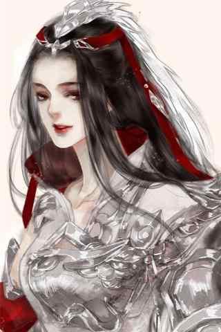 剑网三天策美丽的军娘手机壁纸