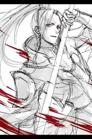剑网三天策帅气手绘手机壁纸