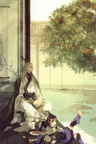 剑网三温馨有爱的纯阳手机锁屏