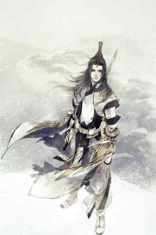 剑网三雪中的纯阳道长手机壁纸