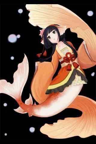 阴阳师鲤鱼精手绘手机图片