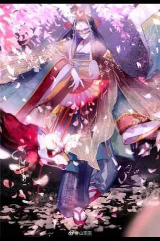 阴阳师玉藻前手绘