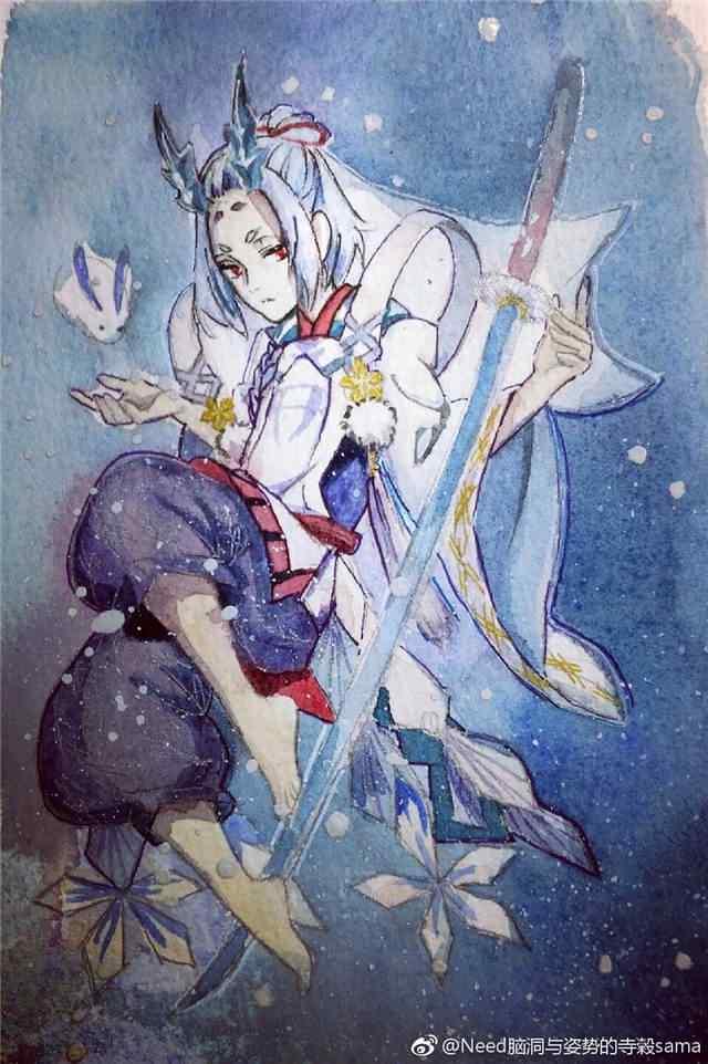阴阳师雪童子手绘手机壁纸