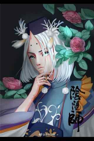 阴阳师雪童子手绘同人手机壁纸