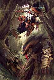 怪物獵人世界同人插畫高(gao)清手機壁紙