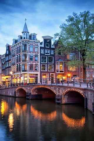 手机建筑壁纸:荷兰水城 阿姆斯特丹