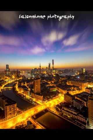 苏河湾城市夜景手机壁纸