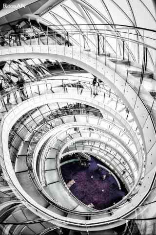 創意的英倫風建築攝影高清手機壁紙