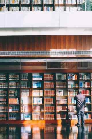 图书馆唯美手机壁