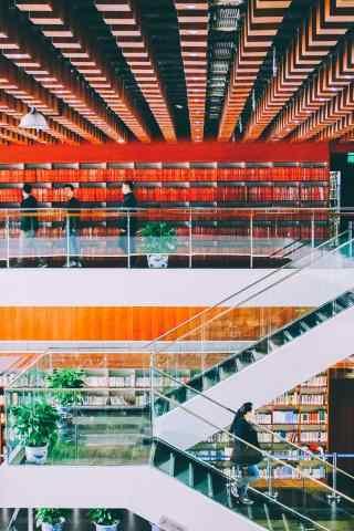 图书馆建筑手机壁