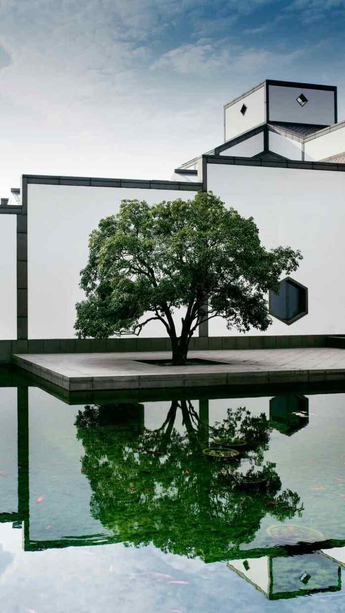 苏州博物馆唯美风景手机壁纸