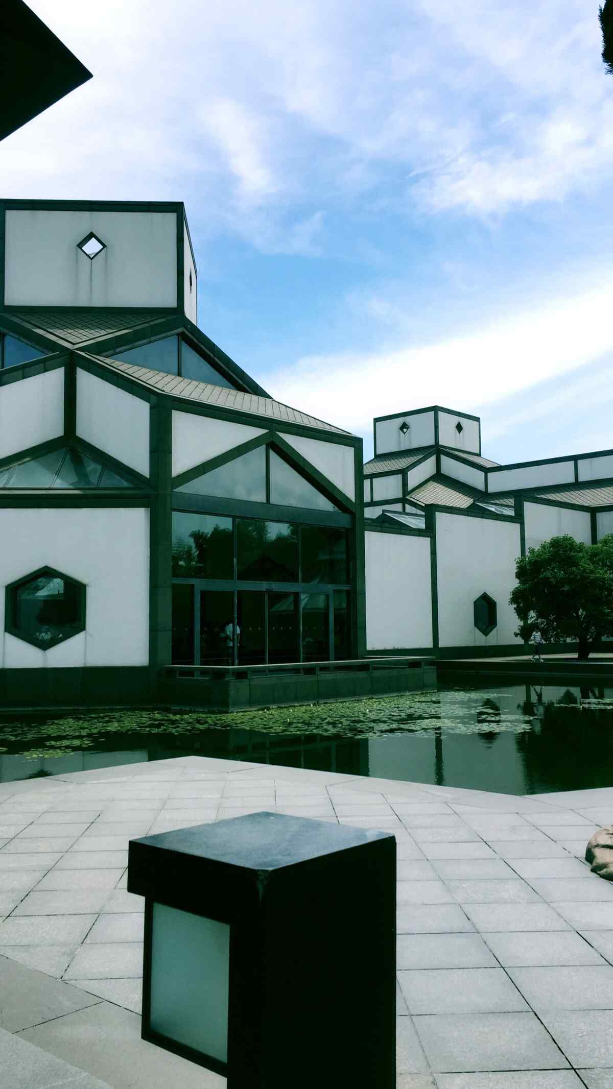 苏州博物馆室外场景手机壁纸