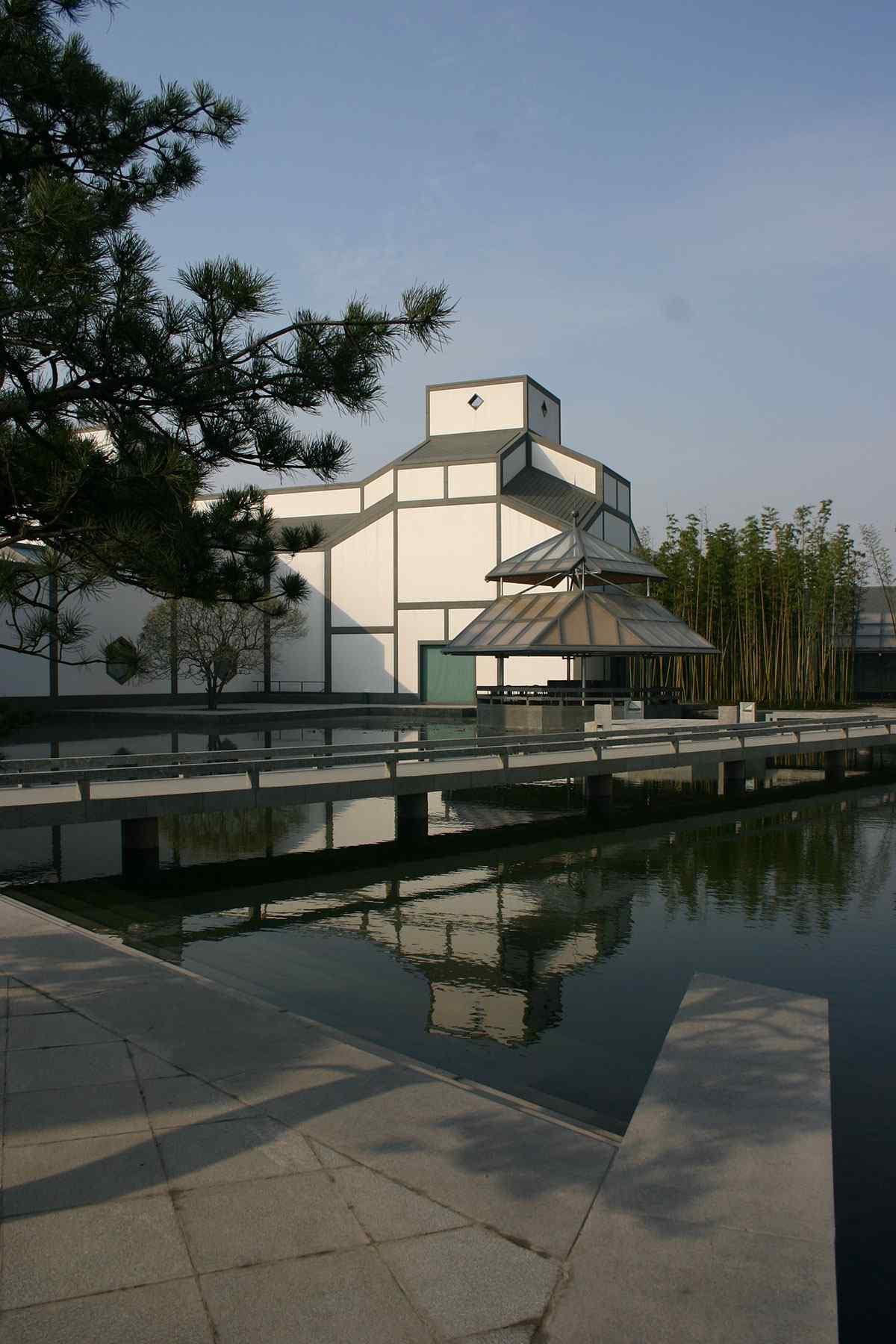 美丽的苏州博物馆建筑手机壁纸