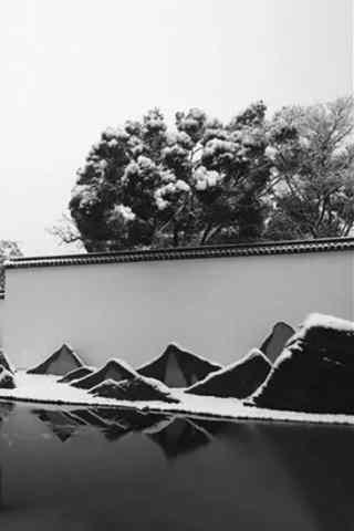 苏州博物馆建筑之黑白手机壁纸