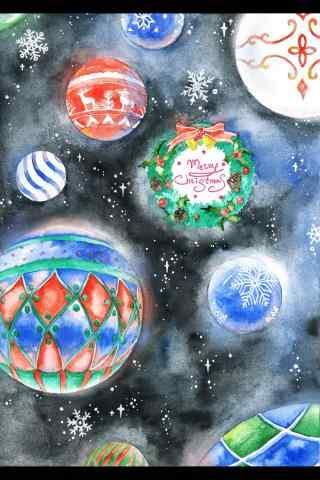 创意圣诞节图片高清手机壁纸