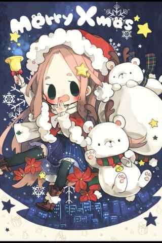 圣诞节快乐卡通图片手机壁纸