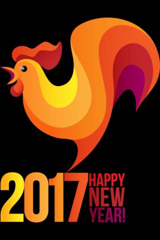 2017鸡年简约图片手机壁纸