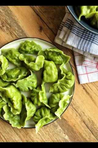 翠绿的饺子手机壁纸