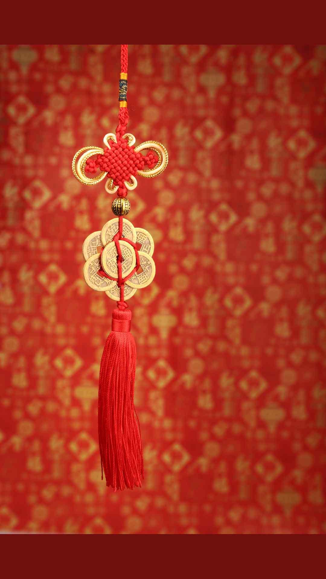 2017年新年-红色喜庆中国结手机壁纸