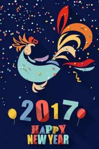 绚丽鸡年喜庆新年壁纸图片