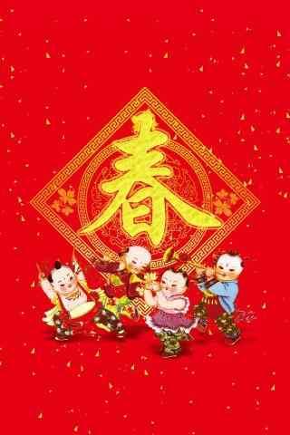 2017年新年-可爱春节童子手机壁纸