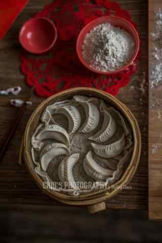 新年饺子唯美图片