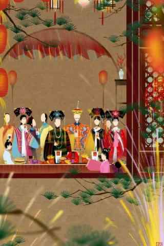 好看的中国风春节