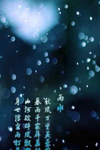 雨水节气之唯美朦