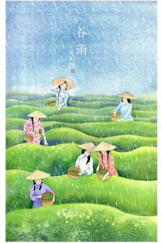 2017年节气谷雨插