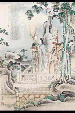 七夕节手绘手机壁纸