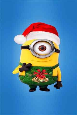 圣诞装小黄人手机壁纸