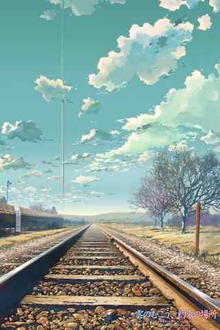 《云之彼端,约定的地方》唯美场景手机壁纸