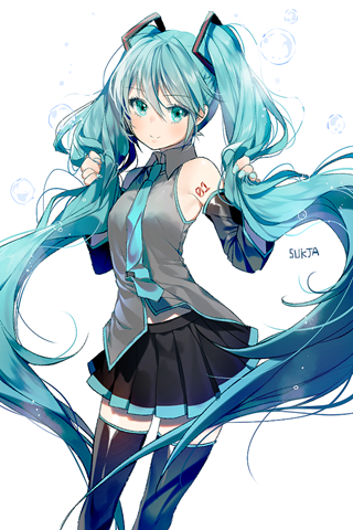 Vocaloid初音ミク(初音未来)手机壁纸