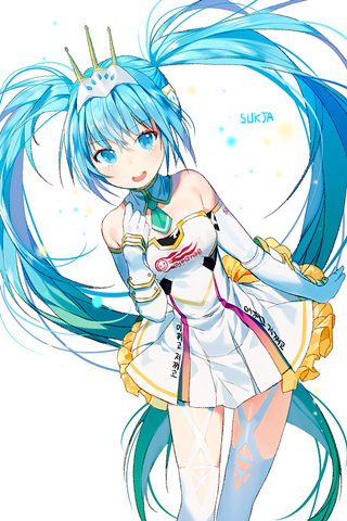 Vocaloid初音ミク2015赛车音手机壁纸