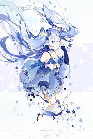 Vocaloid初音ミク(初音未来)雪初音2017手机壁纸