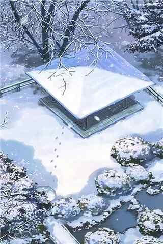 追逐繁星的孩子雪景手机壁纸