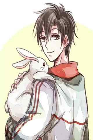 全职高手之抱着兔子的叶修手机壁纸
