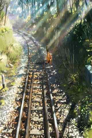追逐繁星的孩子通往远方的铁轨手机壁纸